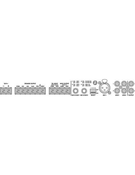 PA-803DMP AMPLIFICADOR MEZCLADOR, 30 W